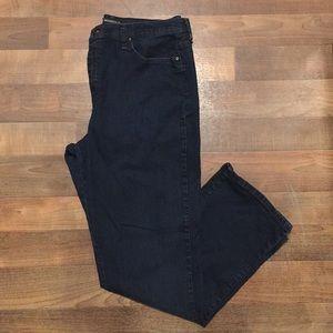 Lee Relaxed Fit Women's 18 Long Blue Denim Jeans